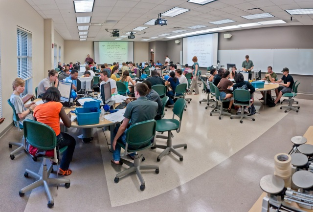 One of FSU's SCALE-UP classrooms - just like MIT!